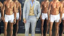 David Gandy whose has a range of underwear and nightwear exlusive to M&S