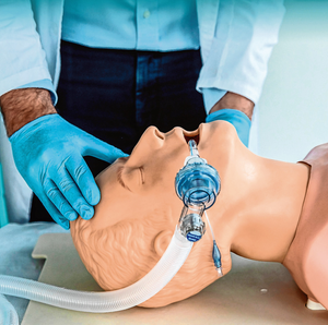 Crisis mode: The OxyGEN ventilator made at SEAT's Martorell facility is demonstrated on a medical mannequin