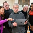 Dropping in: Tim Cook on a visit to Dublin app developer WarDucks