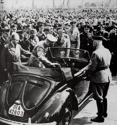 Volkswagen was set up by Adolf Hitler to provide cars for the people