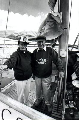 Charles Haughey and Maureen on board Celtic Mist