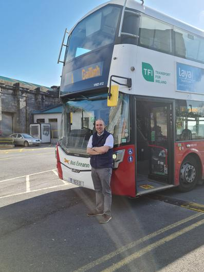 Route back to normality: Simon Qualter, bus driver for Bus Éireann