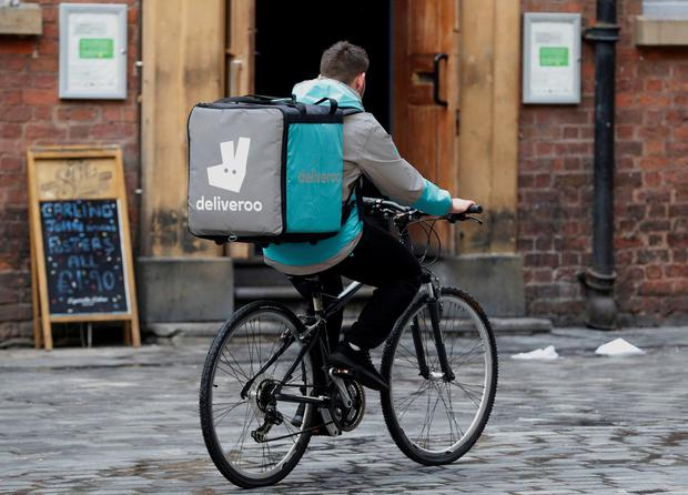 Deliveroo riders were found to be self-employed in the UK. Photo: Reuters