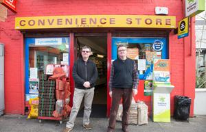 PEOPLE IN YOUR NEIGHBOURHOOD: John and Martin Foyle, owners of The Orchard shop in Ranelagh. Photo: Tony Gavin