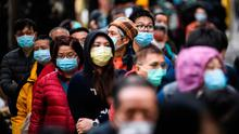 Companies fear putting their executives in contact with others who may have been in the vicinity of the virus, especially in Chinese districts where many tech and telecoms businesses have operations. Photo: Anthony Wallace/AFP via Getty
