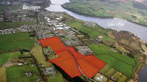 Development potential: An aerial view of the Blessington lands