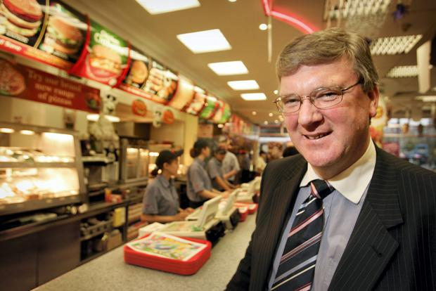 Pat McDonagh inside the O'Connell Street branch of Supermacs.  Photo: Gerry Mooney