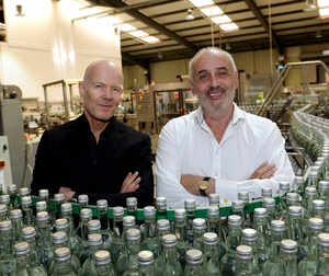 Oscar Wilde Water's sales and marketing director Rory McLoughney and CEO John Hegarty at their plant in Co Tipperary. Photo: Caroline Quinn