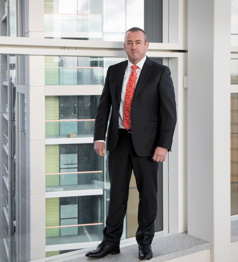 Donagh O'Sullivan, Galliard Homes at Harbour Central site in East London. Photo: Jonathan Goldberg