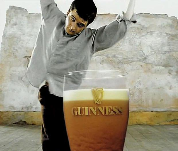 Joe McKinney waits for his pint to settle in the iconic Guinness 'Anticipation' advert from 1994