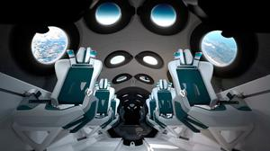 Enterprising: An artist's impression of the interior of Virgin Galactic's space cabin