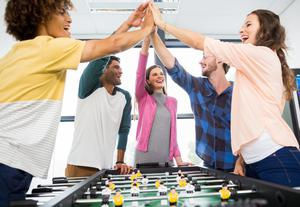 Look at setting up a sports or social club to help with team-building in your organisation
