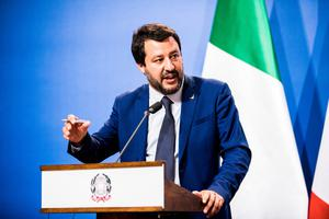 Salvini aims to boost jobs by spending. Photo: Bloomberg