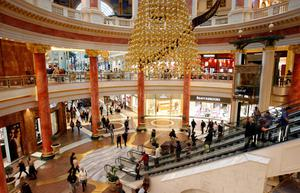 Staying open: Intu's sites like the Trafford Centre in Manchester, UK will be continuing to trade