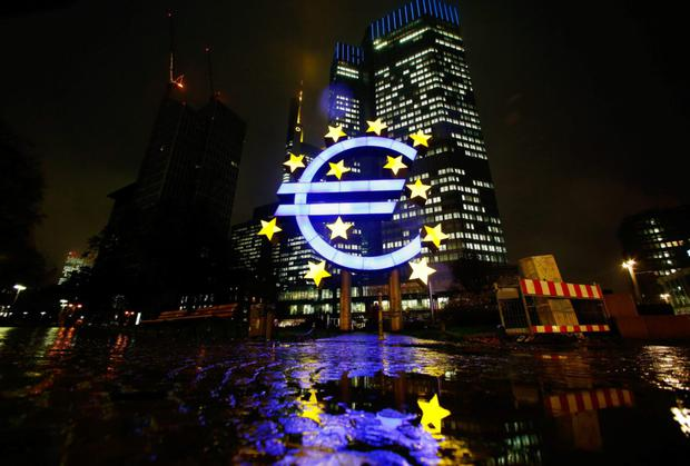 The lights never go out at the European Central Bank HQ in Frankfurt. Photo: Ralph Orlowski