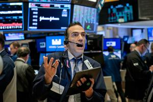 A NYSE trader yesterday