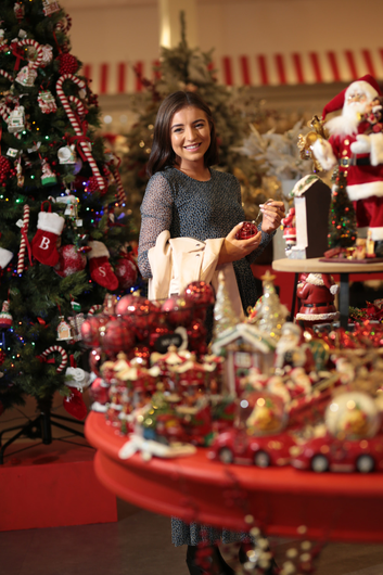 Eva Byrne O'Flaherty in the Arnotts Christmas Shop as the store gets set for more investment. Photo: David Conachy