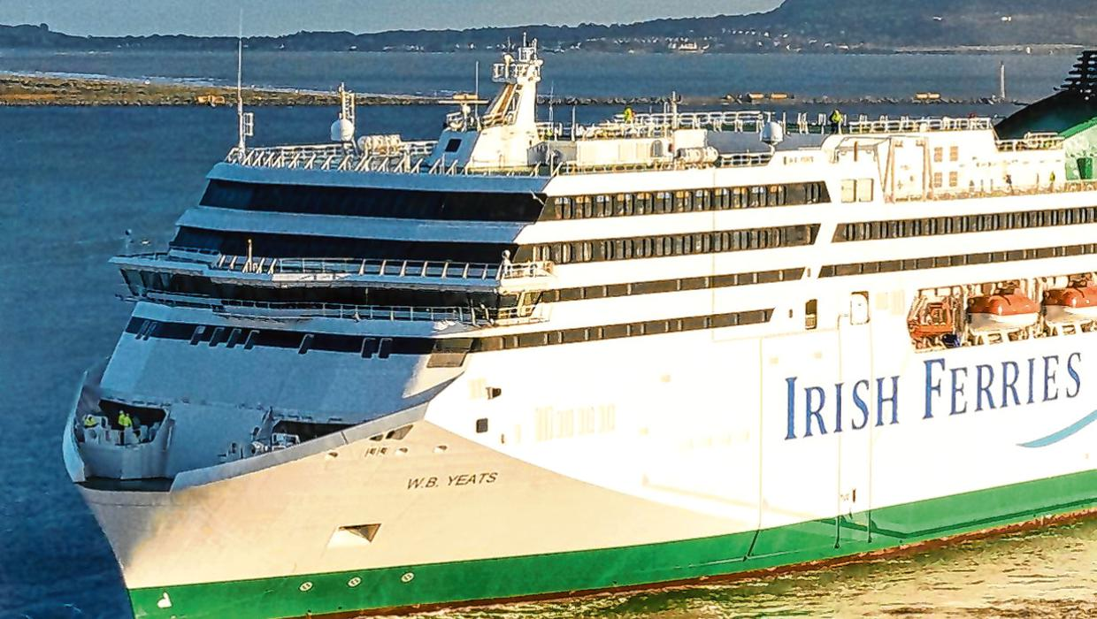 Roll-on roll-off freight helps mitigate fall in revenue at Irish Ferries operator