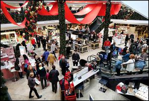 Christmas shoppers out in force at Arnotts on Dublin's Henry Street this week.  Photo: Steve Humphreys