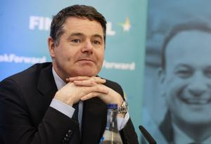 Calling for patience: Finance Minister Paschal Donohoe