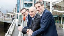 Ambitious: From left, Rob Carpenter, director and co-founder; Seamus White, director and co-founder; and Conor Buckley, CEO, at Granite Digital.