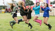 Music fans at the sell-out Electric Picnic Festival