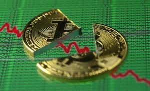 Bitcoin rose 1pc to $10,831 at 12:20pm in Hong Kong after slumping as much as 26pc Tuesday, according to Bloomberg composite pricing. Photo: Reuters