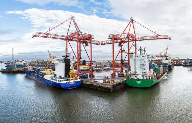 The annual volume of goods passing through Dublin Port is expected to rise to 77.2 million gross tonnes in 2040, compared to 2.9 million tonnes in 1950
