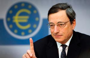 ECB: Bond yields fell after Mario Draghi opened door to quantitative easing. Photo: AFP/Getty Images