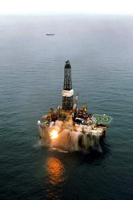 Photo issued by Providence Resources of the GSF Arctic III rig which was used in drilling at Barryroe. Photo: PA