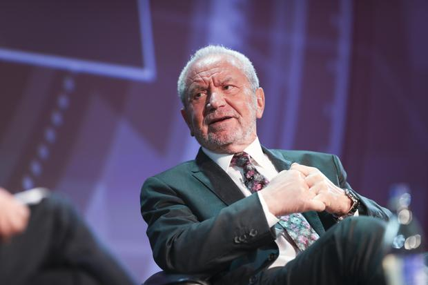 Alan Sugar chats with Richard Curran on the main stage at this year's Pendulum Summit. Picture: Conor McCabe Photography.