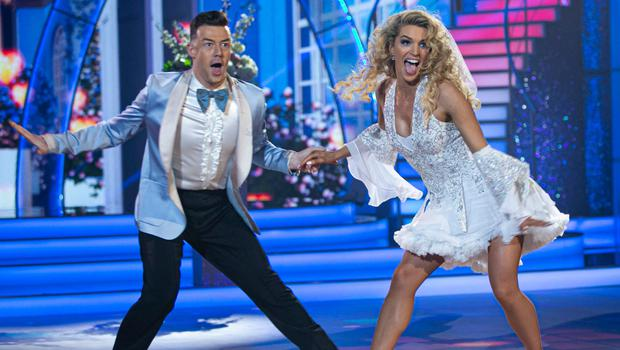 Grainne Gallanagh and Kai Widdrington during the third live show of Dancing with the Stars Photo: Kyran O'Brien Photography/kobpix