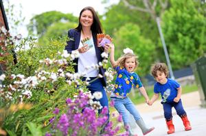 Aisling Cullen of Thanks Plants with Aida (5) and Sebastian (3)