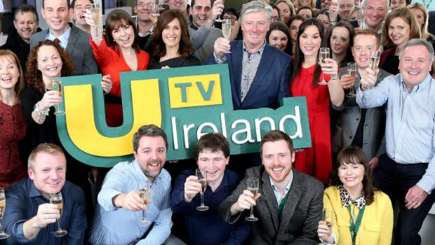 PIC SHOWS:  Pictured at the launch of UTV Ireland at the channel's headquarters and HD studios in Dublin's Docklands, on New Year's Day, were staff and presenters of the channel.