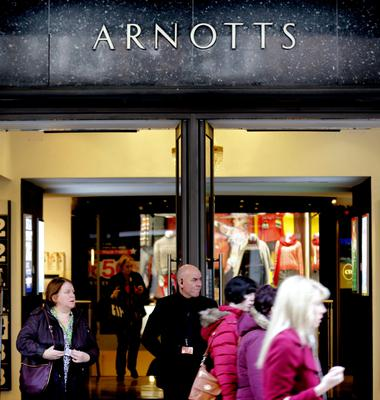 "At the entrance to Arnotts store: ""Buyout would be best..."""