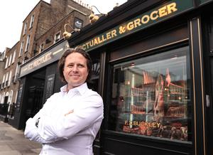 Stephen Buckley of FX Buckley at the new store on Dublin's Pembroke Street. Photo: Gerry Mooney