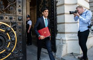 In focus: The UK's Chancellor of the Exchequer, Rishi Sunak. Photo: Bloomberg