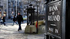 'Importantly, the three Irish-owned banks, AIB, Bank of Ireland and Permanent TSB have, in their recent announcements of results for the first half of 2020, taken a couple of billion in provisions against loan losses that have not yet crystallised.' (stock image)
