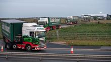 Name game: The Stobart brand is 'primarily associated' with the  trucks operated by Eddie Stobart Logistics. Photo: Chris J Ratcliffe/Bloomberg