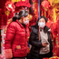 Virus fears: Women wear protective masks in Shanghai, China