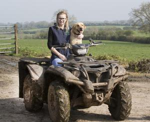 Social scene: Dairy farmer Louise Crowley is a key link in her local community