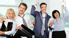 Closing the deal: Selling your product can offer an unlikely endorphins boost. Stock image