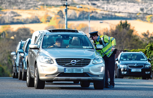 Uncertain times: Traffic levels dropped during lockdown as people worked from home and gardaí operated checkpoints. PHOTO: OWEN BRESLIN