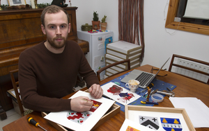 Brendan McCarey founded Painted Clans three years ago after demand for his personalised gift snowballed when he designed his first as a friend's wedding present. Photo: Tom Conachy