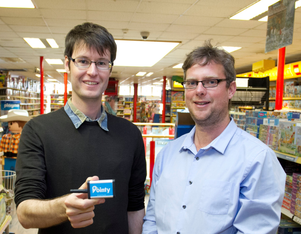 Mark Cummins and Charles Bibby, co-founders of Pointy. Photo: Colm Mahad