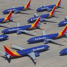 Grounded: Boeing 737 Max jets on the tarmac at Victorville Airport, California