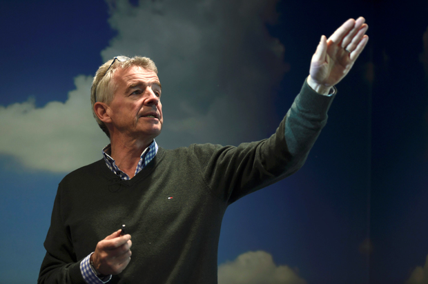 Michael O'Leary speaking at a Ryanair press event in Dublin