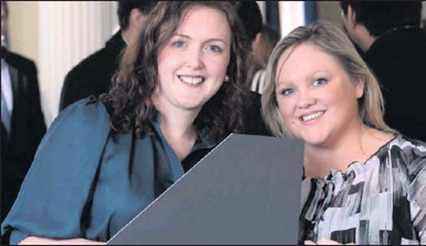Sligo girls, Michelle Leyden and Sandra O'Farrell, graduated from the Michael Smurfit Business School recently.