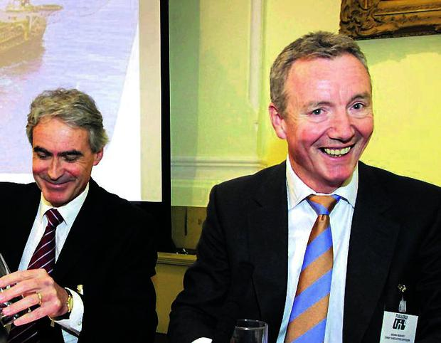 Pictured at the Tullow Oil plc Dubin Shareholders Meeting in May were Aidan Heavey (right), Chief Executive Officer, and Graham Martin, General Counsel and Company Secretary