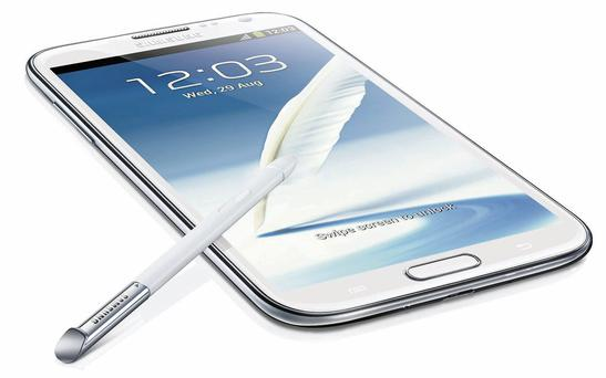 The Samsung Galaxy Note 2 - the best business smartphone on the market at present.